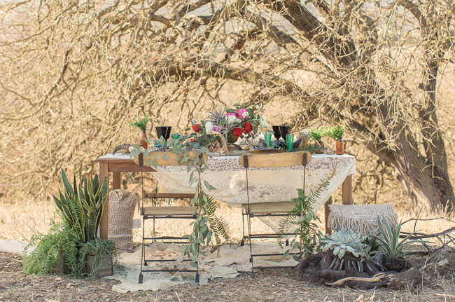 bohemian glam tablescape