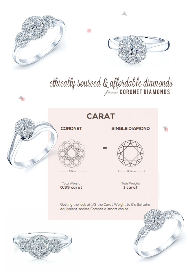 coronet diamonds engagement rings