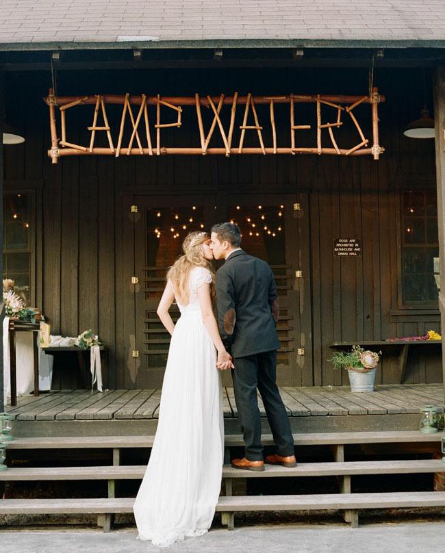 Dreamy Vintage-Inspired Florida Camp Wedding: Val + Lee