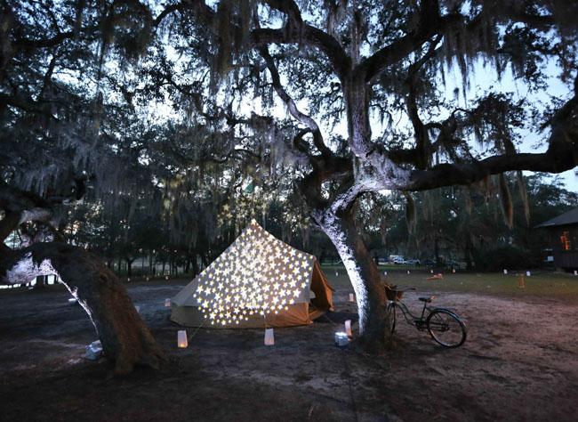 stars on tent