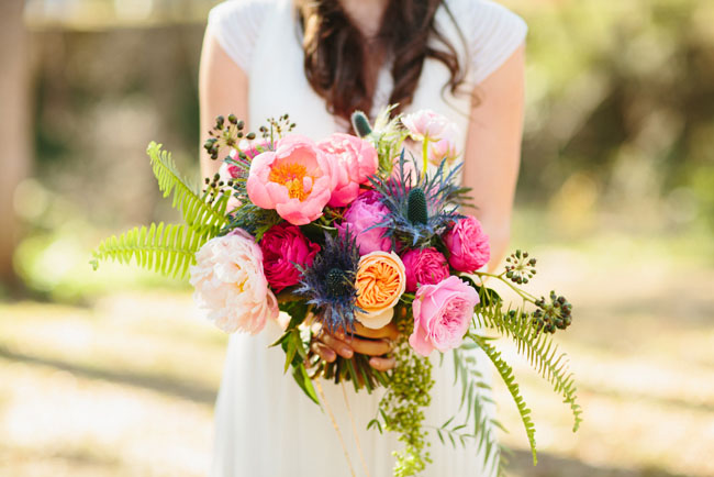 peony and juliet rose bouquet