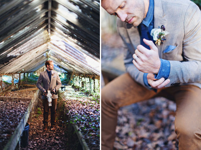 groom in greenhouse