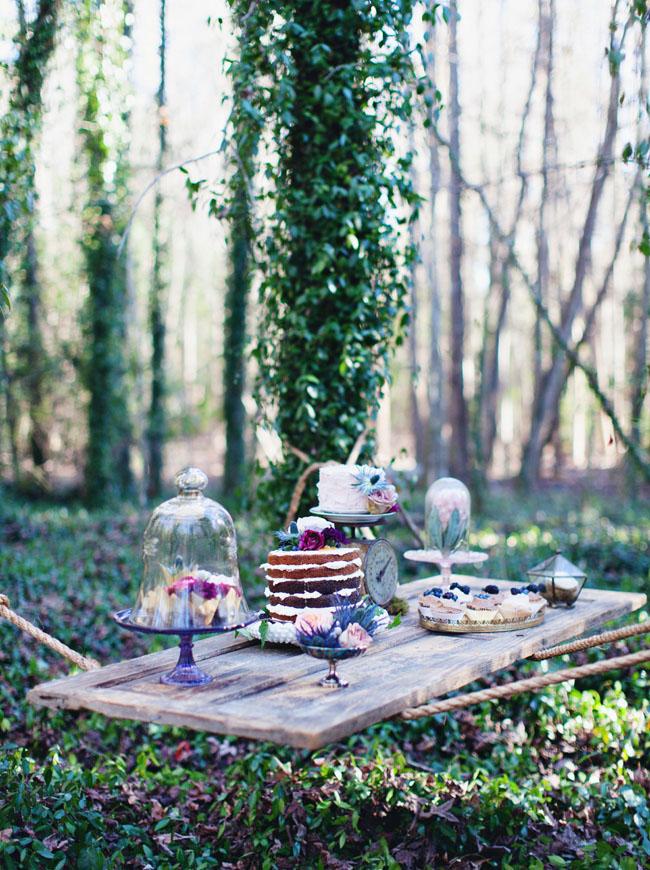 suspended dessert table