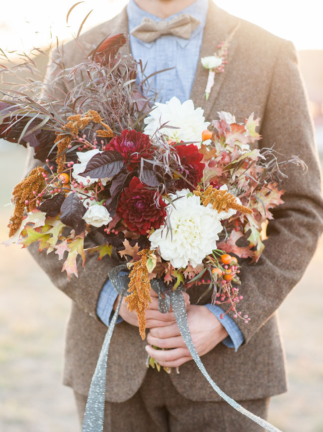 fall red bouquet