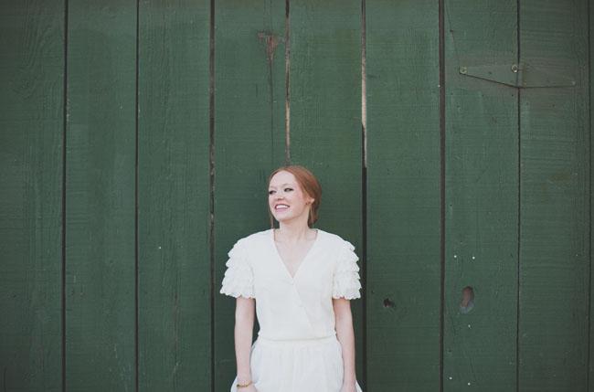 ruffle sleeve bride