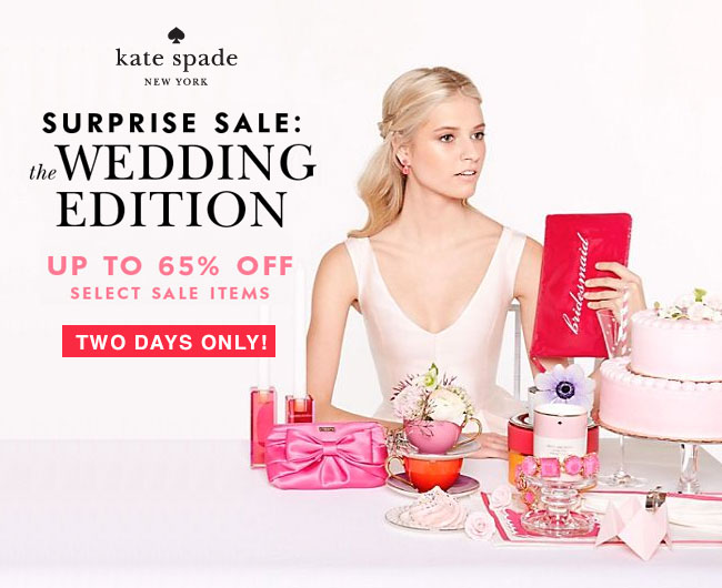 Kate Spade New York Surprise Sale: Wedding Edition ...