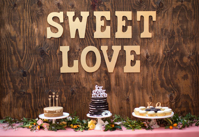 sweet love dessert wooden wall