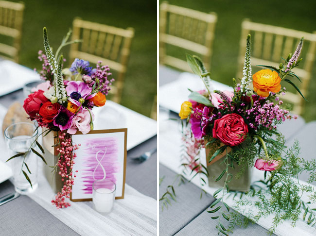 cement block centerpieces