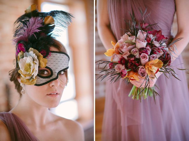 bridesmaid in mask