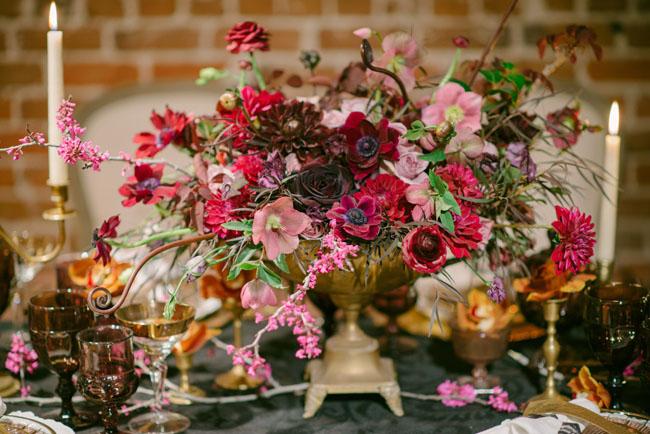 deep pink florals