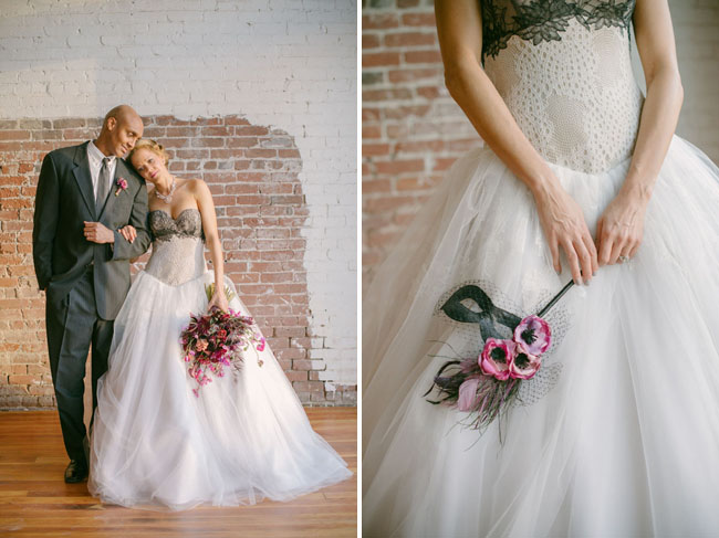 mardi gras wedding inspiration