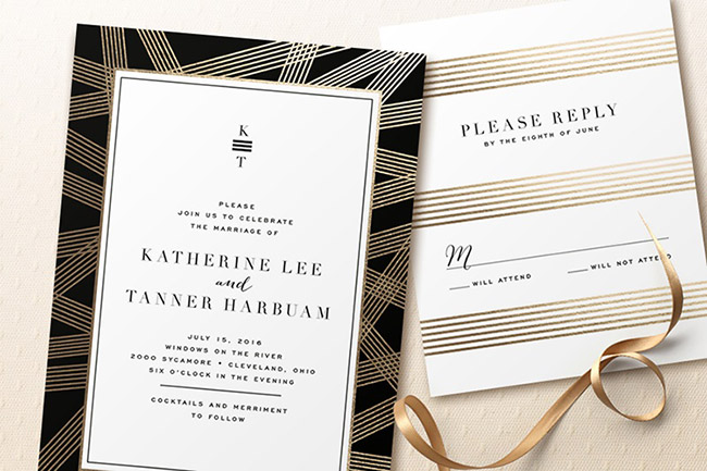 foil pressed invitations from minted a giveaway
