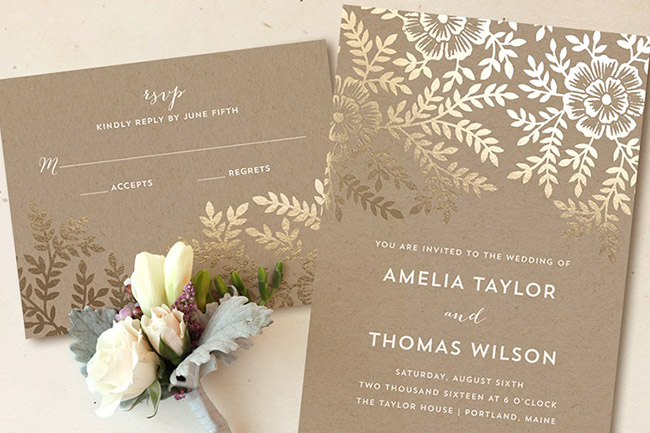 Foilpressed Invitations from Minted a Giveaway