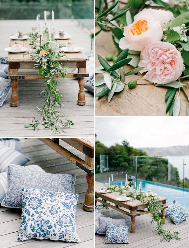 garland rose table