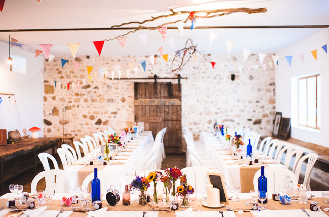 colorful french wedding