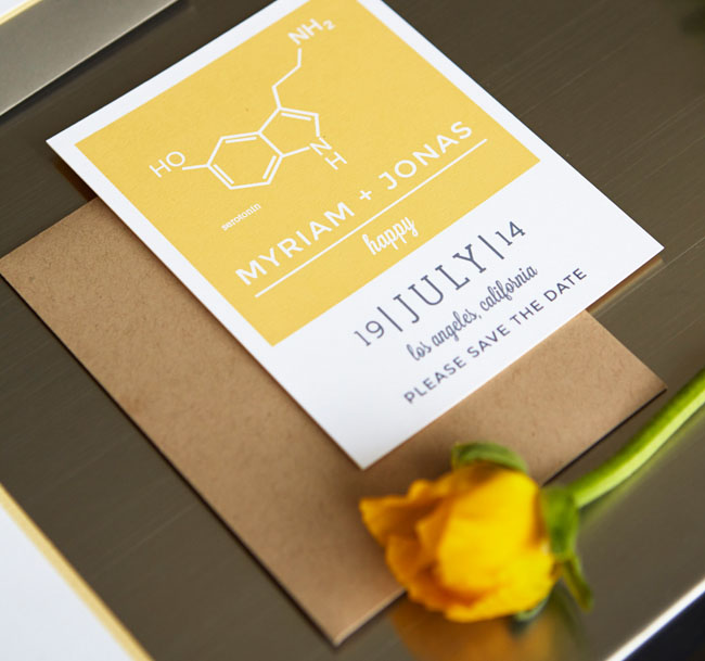 science wedding inspiration
