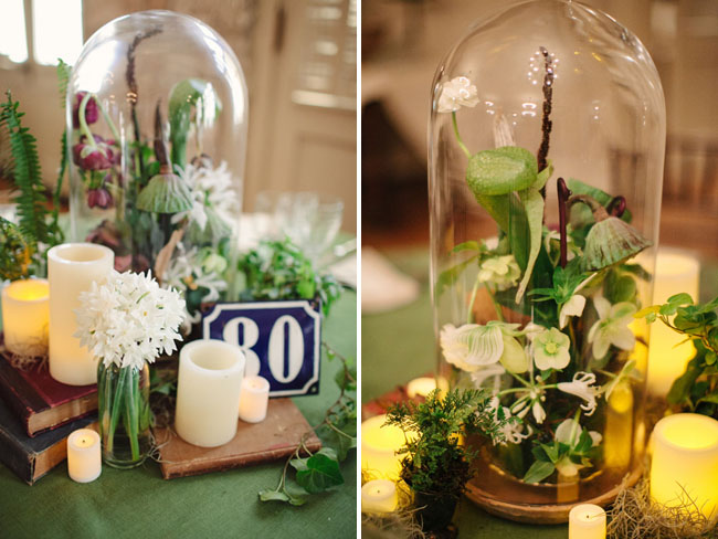glass dome science tablescape