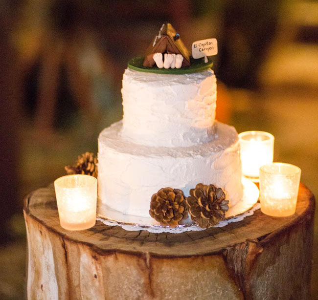 camp wedding cake