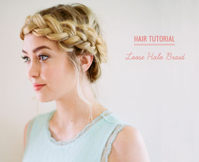 Hair Tutorial Loose Halo Braid