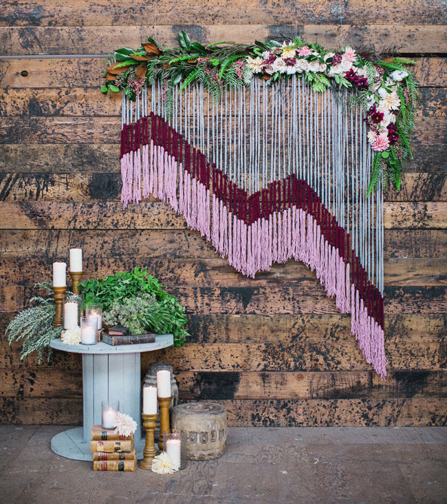 yarn backdrop