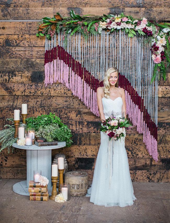vintage warehouse bride