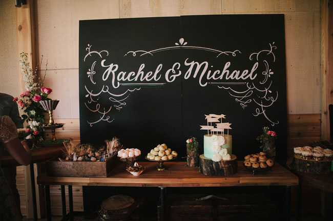 chalkboard dessert bar