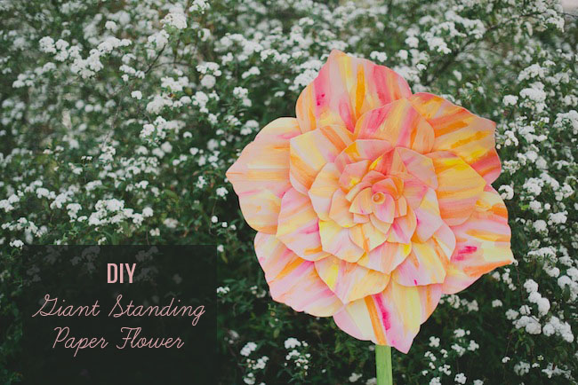 DIY Giant Standing Paper Flower