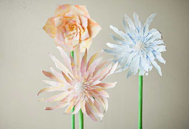 DIY Giant Standing Paper Flowers