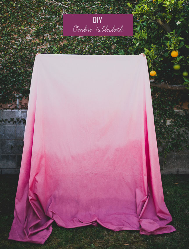 Diy ombre tablecloth solutioingenieria Choice Image