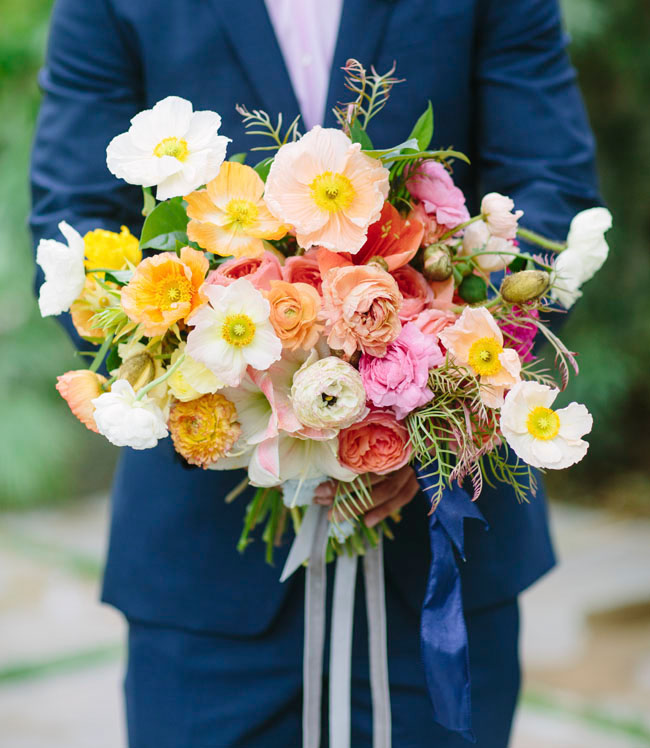 Our favorite bouquets from 2014 green wedding shoes loose poppy bouquet mightylinksfo