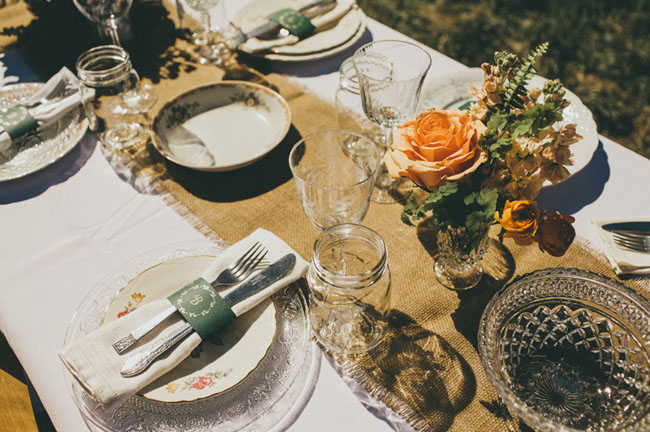 vintage barn tablescape