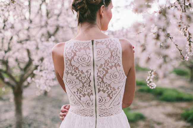 lace back dress