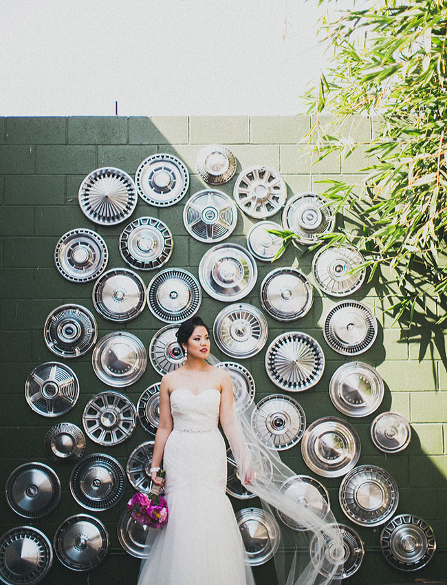 hub cap wall bride