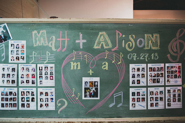 chalkboard seating chart