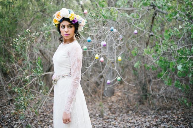 bohemian easter bride