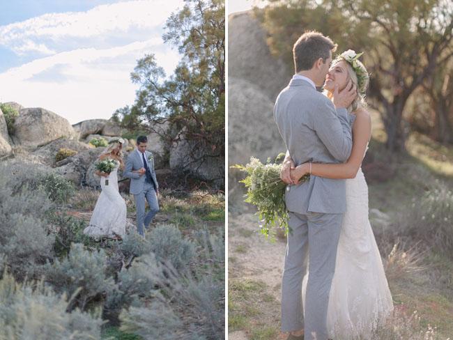 ranch bride and groom