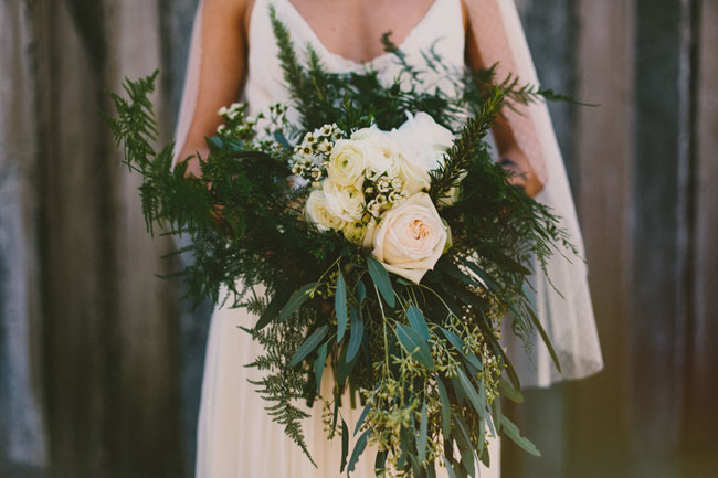 green rustic bouquet