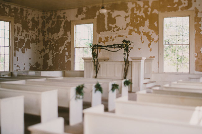 abandoned church wedding