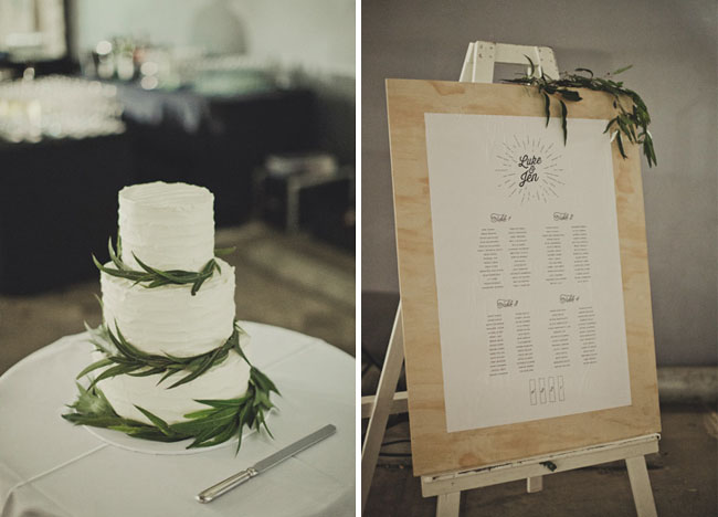 seating chart and cake
