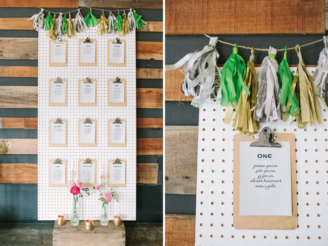 clipboard pegboard seating chart