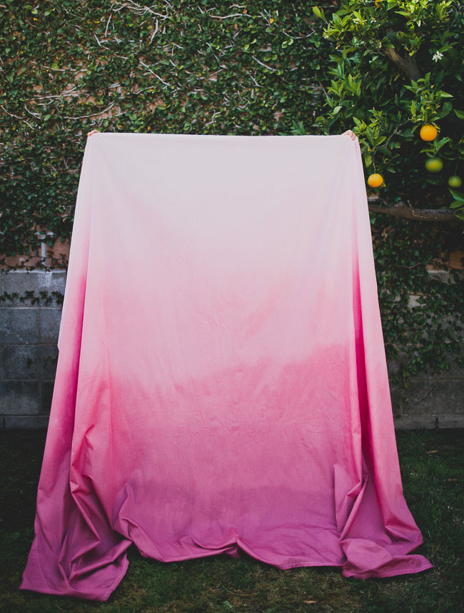 DIY: Ombre Tablecloth | Green Wedding Shoes | Weddings ...