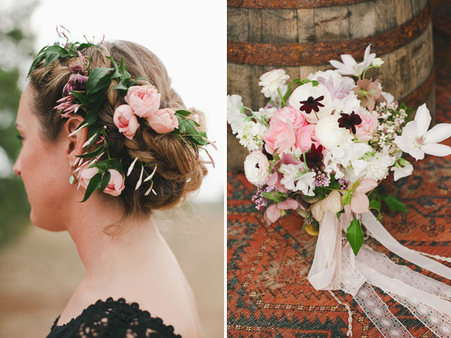 romantic hair flowers