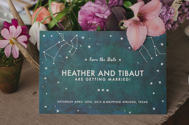 stars in the sky invitation