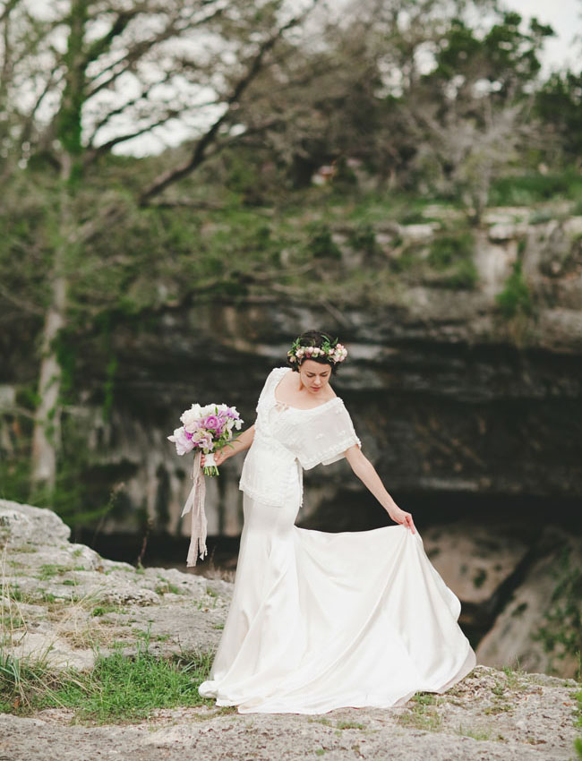 romantic Texas bride