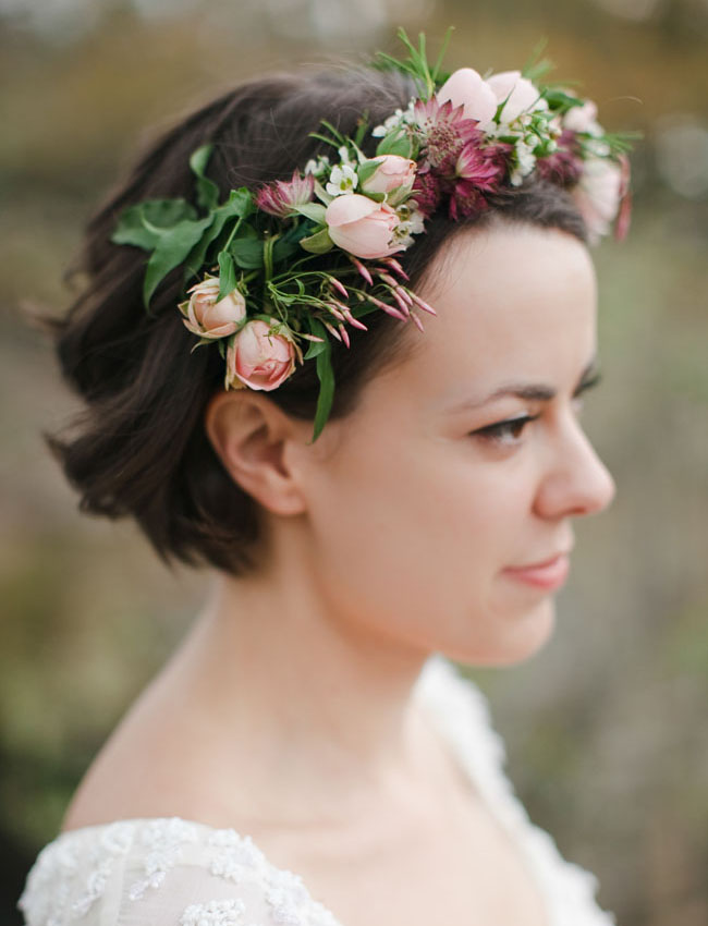 bridal flower hair piece