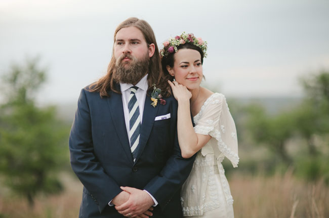 Bohemian black tie wedding heather tibaut part 2 green bride and groom junglespirit Images