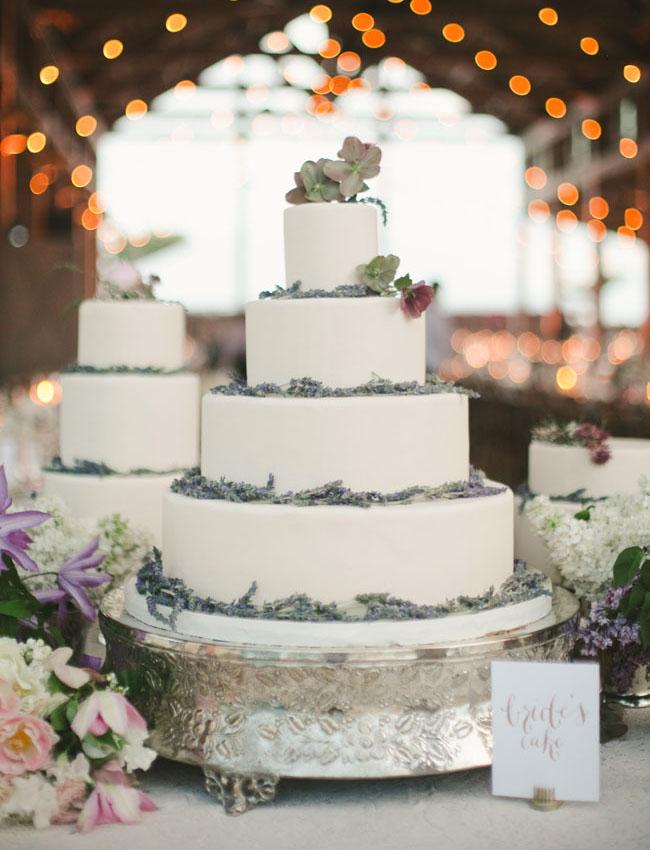 lavender lined cake