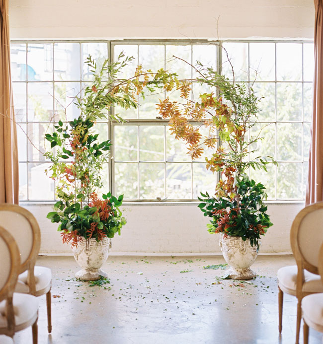 indoor wedding arches. greenery arch indoor wedding arches
