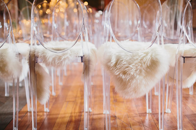 ghost chairs with fur
