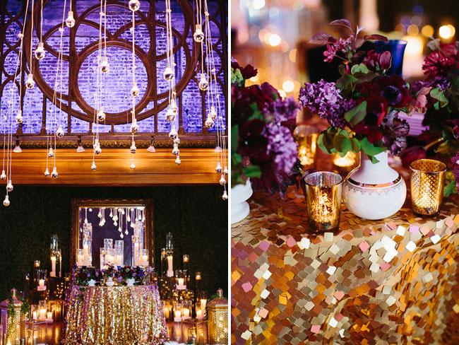 gold tablecloths